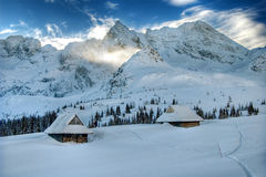 Winter In The Mountains Stock Image