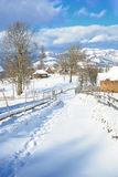 Winter In Transylvania Romania Stock Photos