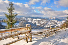 Winter In Transylvania Romania Stock Image