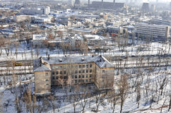 Winter Industrial cityscape Royalty Free Stock Photos