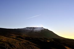 Winter on Ingleborough Stock Image