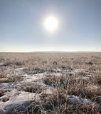 Winter in Inner Mongolia stock images