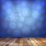 Winter interior walls decorated snowflakes. EPS 10 Royalty Free Stock Photos