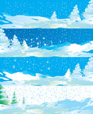 Winter internet banners Royalty Free Stock Photo