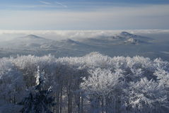 Winter inversion Royalty Free Stock Image