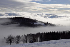 Winter inversion Stock Images