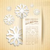 Winter invitation card. Winter invitation card with snowflake. Vector illustration Royalty Free Stock Photo