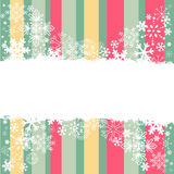 Winter invitation postcard with snowflakes Stock Photography