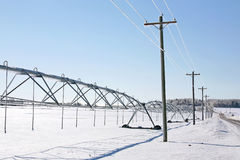 Winter Irrigation System Stock Photo