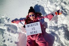 Free Winter Is Here Stock Photography - 109983632