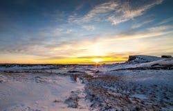 Winter in Island lizenzfreie stockfotos
