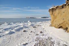 Winter of island rügen. The coast of island rügen Royalty Free Stock Photo