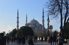 TURKEY, ISTANBUL - JANUARY 7, 2018: Sultanahmet Square and the Blue Mosque royalty free stock photography