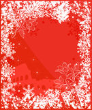 Winter Italy background vector. Ornate leaves, flowers and snowflakes Stock Photos