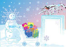 Winter with its celebratory gifts Stock Photography