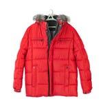 Winter jacket. Isolated on white background Royalty Free Stock Photography
