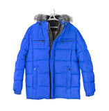 Winter jacket. Isolated on white background Stock Image