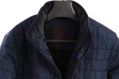 Winter jacket isolated on white background. Men Stock Image
