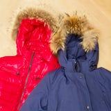 Winter jackets Stock Photo