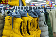 Winter jackets Royalty Free Stock Images