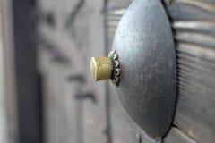 Castle ground door knob stock photo