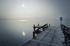 Winter jetty Stock Photography