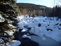 Winter in jizerske hory ridge in czech republic Royalty Free Stock Images