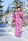 Winter jogging Royalty Free Stock Photo
