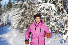 Winter jogging Royalty Free Stock Photography