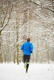 Winter jogging Stock Image