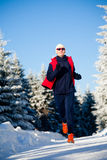 Winter jogging Stock Photo