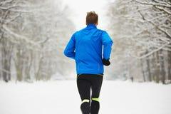 Winter jogging Royalty Free Stock Image