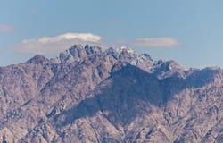 Winter in Jordanian mountains, Jordan Stock Photo