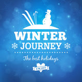 Winter journey poster background Stock Photo