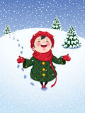 Winter joy Stock Photos