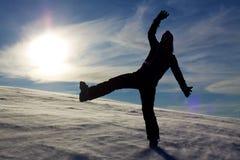 Winter joy Stock Images