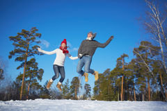 Winter jump Stock Photography