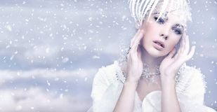 Winter-Königin Lizenzfreie Stockfotos