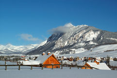 Winter-Kabinen Stockbilder
