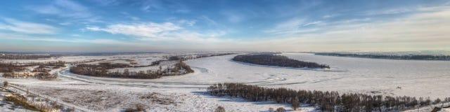 Winter Kama and Toima river Stock Image