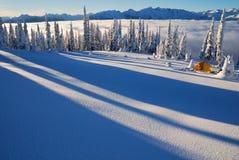 Winter-Kampieren Stockfotos