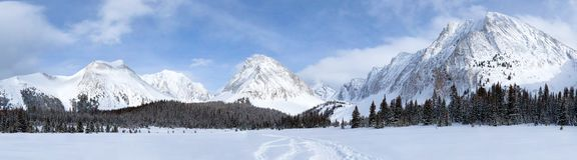 Winter in Kananaskis near Mount Chester royalty free stock image