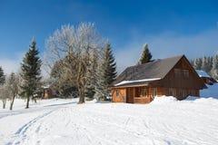 Winter in Karkonosze Stockfotografie