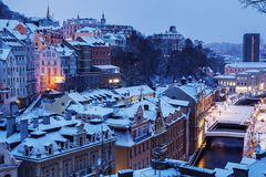 Winter in Karlovy Vary Stock Photography