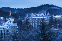 Winter in Karlovy Vary Royalty Free Stock Photography