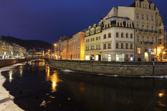 Winter in Karlovy Vary Royalty Free Stock Photos
