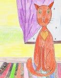 Winter-Katze Lizenzfreies Stockbild