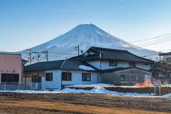 Winter of Kawaguchiko,Fuji Mountain,Japan. stock image