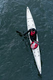 Winter kayaking on the river in Ukraine 14 Royalty Free Stock Photos