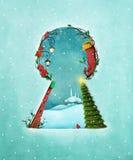 Winter keyhole Royalty Free Stock Images